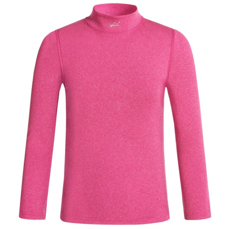 Watson's Watson's Printed High-Performance Thermal Shirt - Long Sleeve (For Little and Big Girls) in Heather Pink