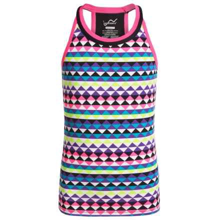 Watson's Watson's Racerback Camisole - Compression Stretch Nylon (For Girls) in Mirror Triangle Print - Closeouts