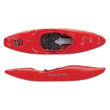 Wave Sport Habitat 74 Creeking Kayak - 8' in Red - 2nds
