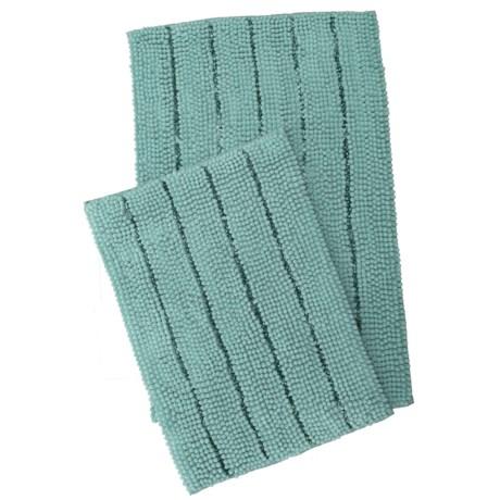 Waveley Chenille Bath Mats - 2-Pack, Blue in Blue
