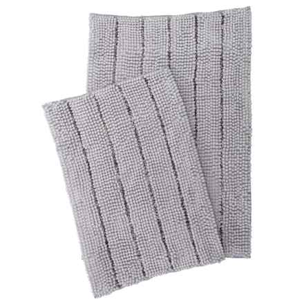 Waveley Chenille Bath Mats - 2-Pack, Silver in Silver - Closeouts