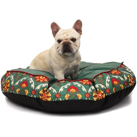 "Waverly Fiesta Medallion Dog Bed - 32"" Round in Adobe"