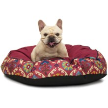 "Waverly Fiesta Medallion Dog Bed - 32"" Round in Gem - Closeouts"