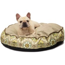 """Waverly Fiesta Medallion Dog Bed - 32"""" Round in Pebble - Closeouts"""