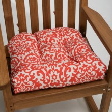 Waverly Indoor/Outdoor UV-Treated Chair Cushion in Coral Damask - Closeouts