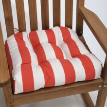 Waverly Indoor/Outdoor UV-Treated Chair Cushion in Coral Stripe - Closeouts