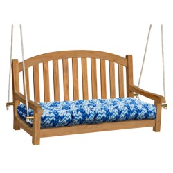 Waverly Indoor/Outdoor UV-Treated Double Chair Cushion in Ikat Blue