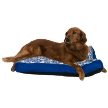 "Waverly Luminary Dog Bed - 36x27"" in Indigo - Closeouts"