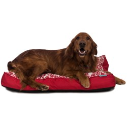 "Waverly Luminary Dog Bed - 36x27"" in Red"