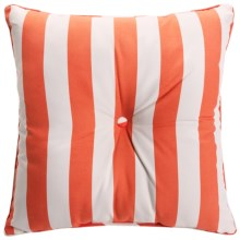 Waverly Oversized Indoor/Outdoor UV-Treated Pillow/Cushion in Coral Stripe - Closeouts
