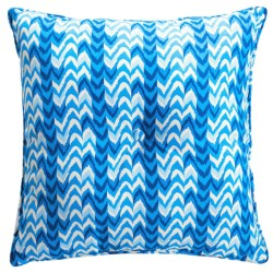 Waverly Oversized Indoor/Outdoor UV-Treated Pillow/Cushion in Ikat Blue