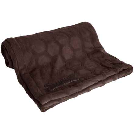 "Waverly Patterned Pet Throw Blanket - 60x50"" in Symmetry Brown - Closeouts"