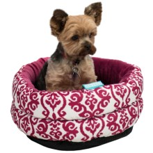 Waverly Refresh Luminary Cuddle Cup Dog Bed in Pink - Closeouts