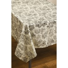 "Waverly Rustic Life Cotton Tablecloth - 60x104"" in Onyx - Closeouts"