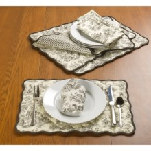 Waverly Rustic Life Reversible Placemats - 4-Pack in Onyx - Closeouts