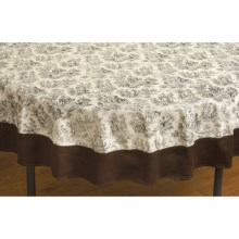 "Waverly Rustic Life Round Cotton Tablecloth - 70"" Round in Onyx - Closeouts"