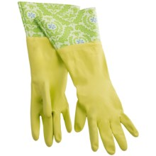 Waverly Washable Soft Fashion Cleaning Gloves - Rubber in On Display Kiwi - Closeouts