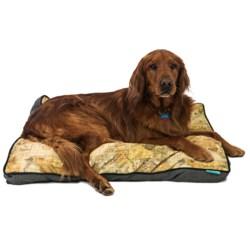 "Waverly World Viaggio Print Dog Bed - 4x36x27"" in Black"