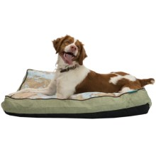 Waverly World Viaggio Print Dog Bed in Sycamoret - Closeouts