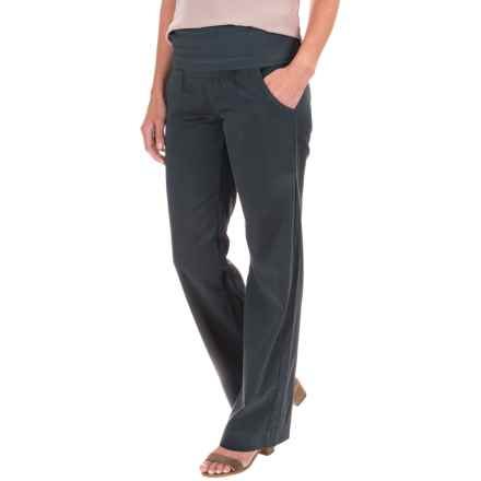 Wearables by XCVI Brushed Sateen Fold-Over Pants (For Women) in Charcoal Grey - Closeouts