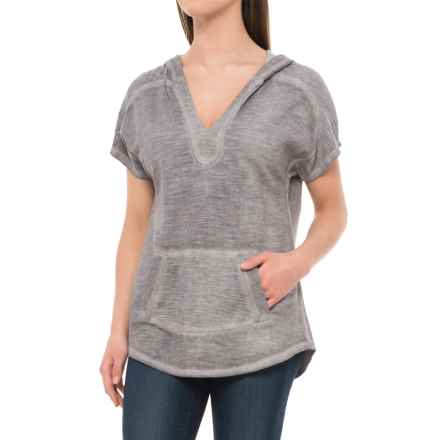 Wearables by XCVI Cadyna Hoodie - Short Sleeve (For Women) in Cold Pigment Grey - Closeouts