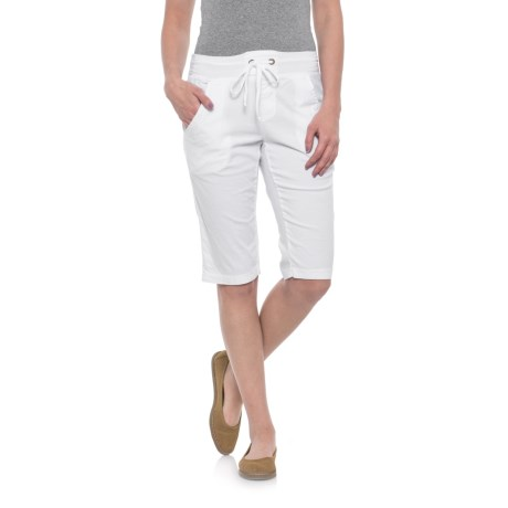 Wearables by XCVI Pull-On Capris (For Women) in White