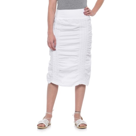 Wearables by XCVI Ruched Pull-On Skirt (For Women) in White
