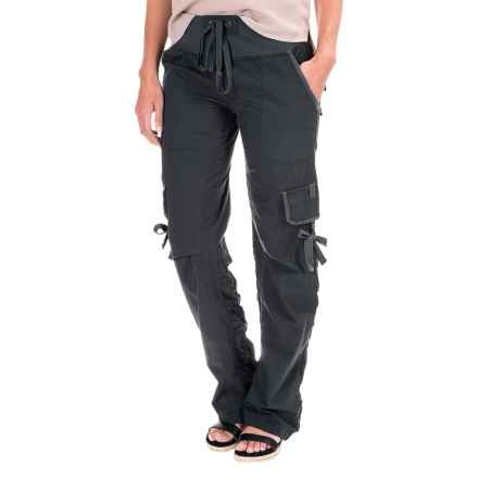Wearables by XCVI Scrunch Leg Stretch Cargo Pants (For Women) in Charcoal Grey - Closeouts