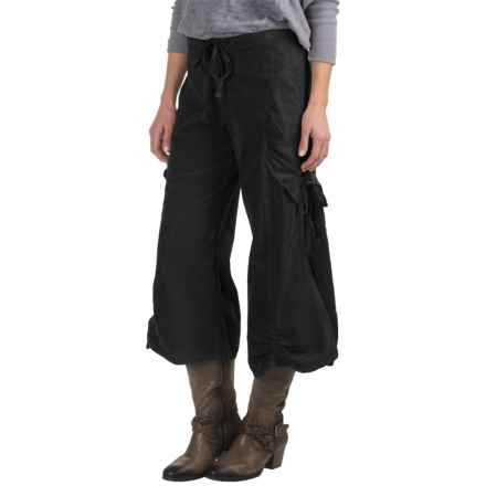 Wearables by XCVI Silvia Gaucho Pants - Wide Leg (For Women) in Black - Closeouts