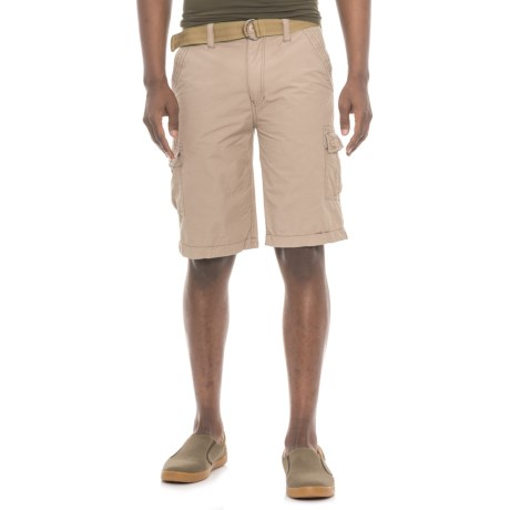 Wearfirst Belted Cargo Shorts (For Men) in Chinchilla