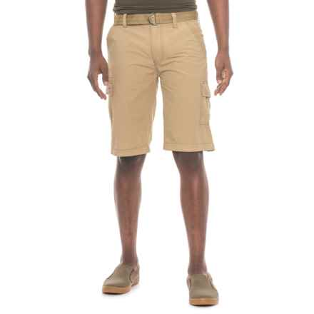 Wearfirst Belted Cargo Shorts (For Men) in Vintage Khaki - Overstock