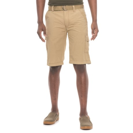 Wearfirst Belted Cargo Shorts (For Men) in Vintage Khaki