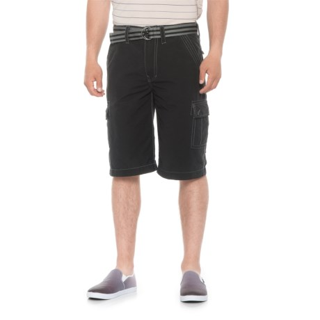 Wearfirst Open Line Ripstop Shorts (For Men) in Jet Black