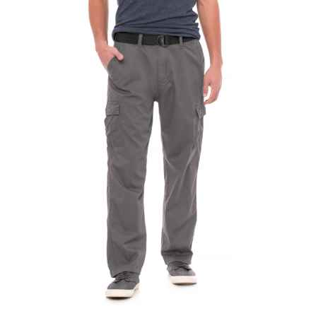 Wearfirst Pin Faille Belted Cargo Pants (For Men) in Gargoyle - Overstock