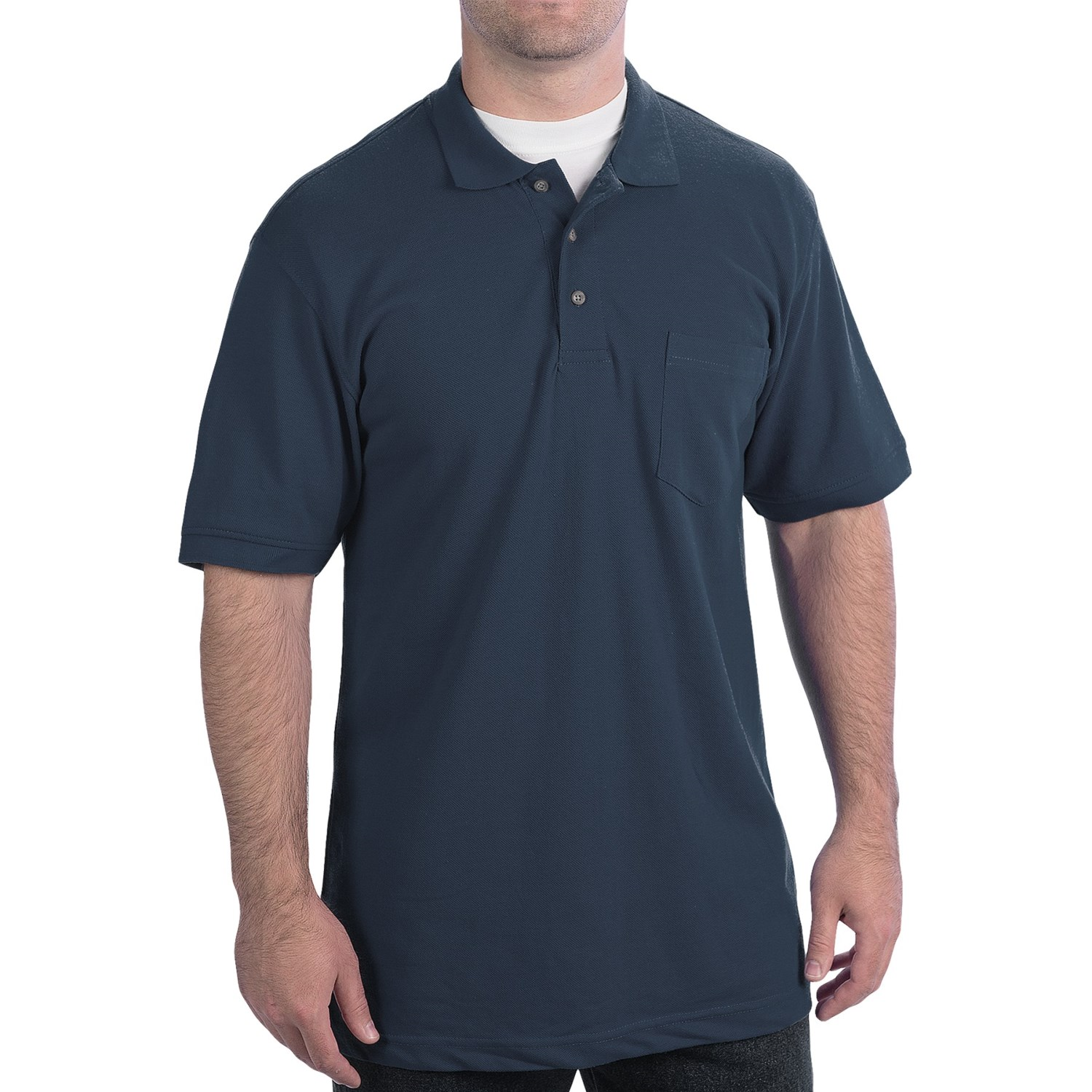 Wearguard weartuff pique polo shirt chest pocket short for Short sleeve polo shirt with pocket