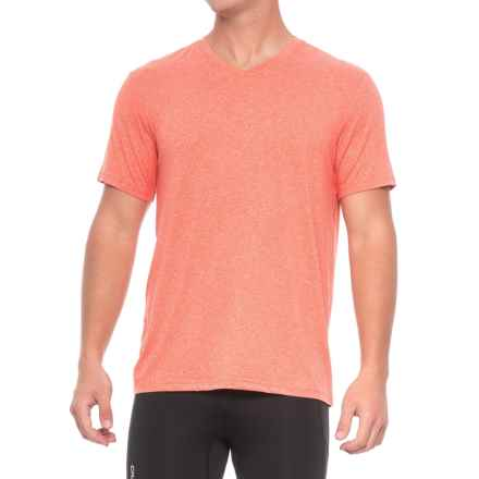 Weatherproof 32 Degrees Cool V-Neck T-Shirt - Short Sleeve (For Men) in Heather Spice Orange - Closeouts