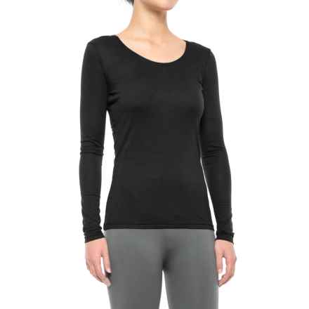 Weatherproof 32 Degrees Heat Thermal Base Layer Top - Long Sleeve (For Women) in Black - Closeouts