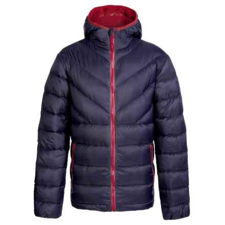 Weatherproof 32 Degrees Packable Down Jacket - 550 Fill Power, Hooded (For Little and Big Boys) in Blue - Closeouts