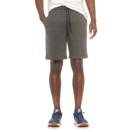 Weatherproof 32 Degrees Tech Fleece Shorts (For Men) in Heather Black - Closeouts