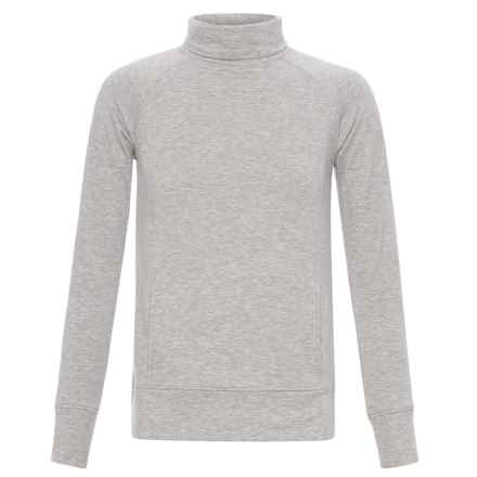 Weatherproof 32 Degrees Turtleneck Sweatshirt (For Girls) in Heather Grey - Closeouts