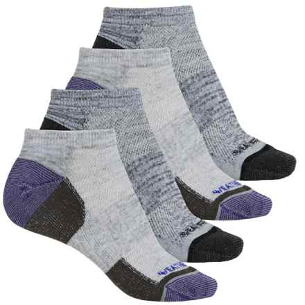Weatherproof All-Purpose Outdoor Socks - 4-Pack, Below the Ankle (For Women) in Medium Purple - Closeouts