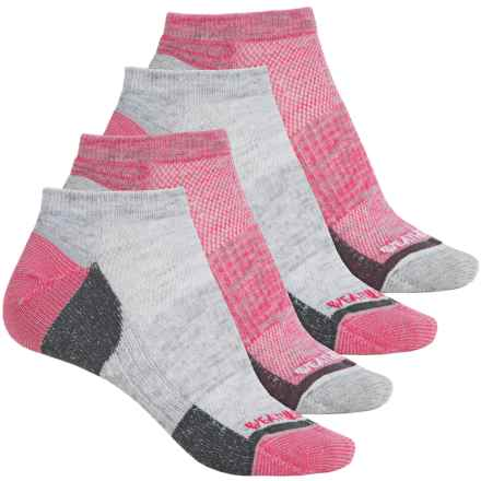 Weatherproof All-Purpose Outdoor Socks - 4-Pack, Below the Ankle (For Women) in Pink - Closeouts