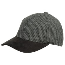 Weatherproof Baseball Cap with Suede Bill (For Men and Women) in Charcoal Bone - Closeouts