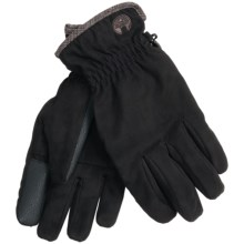 Weatherproof Basic Microsuede Gloves - Touchscreen Compatible (For Men) in Black - Closeouts