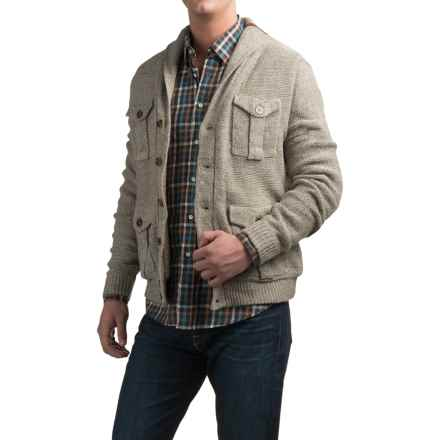 Weatherproof Berber-Lined Cardigan Sweater (For Men) in Oatmeal - Closeouts