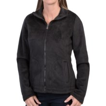Weatherproof Bonded Pile Fleece Jacket (For Women) in Black - Closeouts