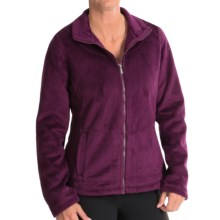 Weatherproof Bonded Pile Fleece Jacket (For Women) in Plum - Closeouts