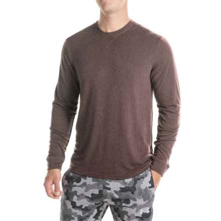 Weatherproof Brushed Heat Sweatshirt (For Men) in Heather Brown - Closeouts