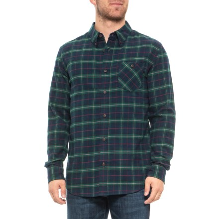 Weatherproof Brushed Plaid Flannel Shirt - Long Sleeve (For Men) in Storm -  Closeouts 21f639252