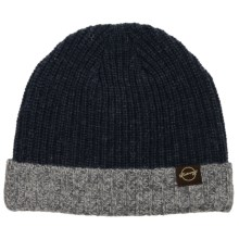 Weatherproof Chunky Beanie - Fleece Lined (For Men and Women) in Navy/Grey - Closeouts